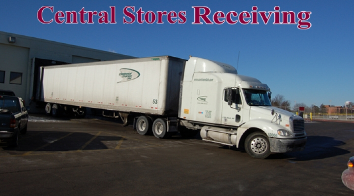 Image of Semi Truck at Central Stores Receiving Dock